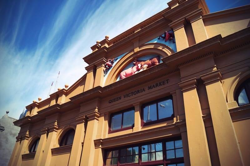 Eingang Queen Victoria Market Melbourne