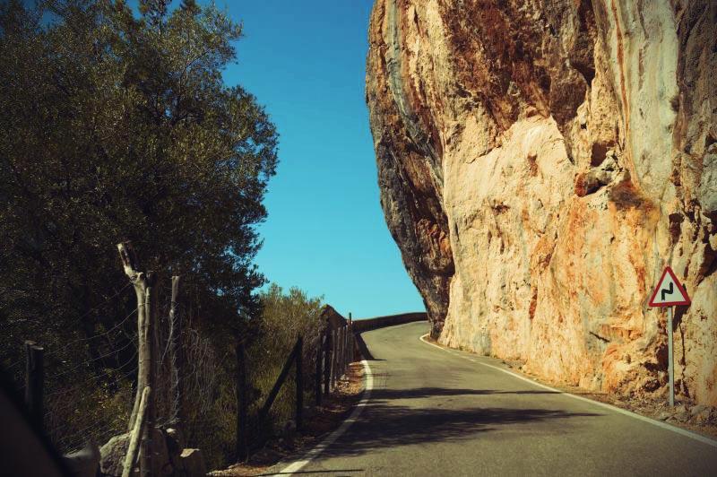 Mallorca Straßen entlang der Westküste