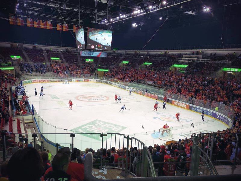Ice hockey game DEG vs Schwaningen in ISS Dome