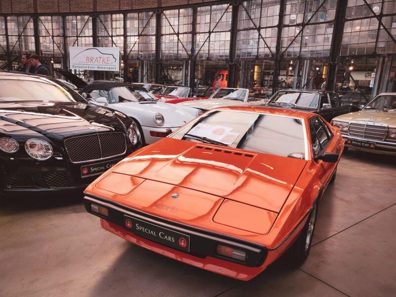 roter Lotus Esprit Oldtimer in der Classic Remise in Düsseldorf