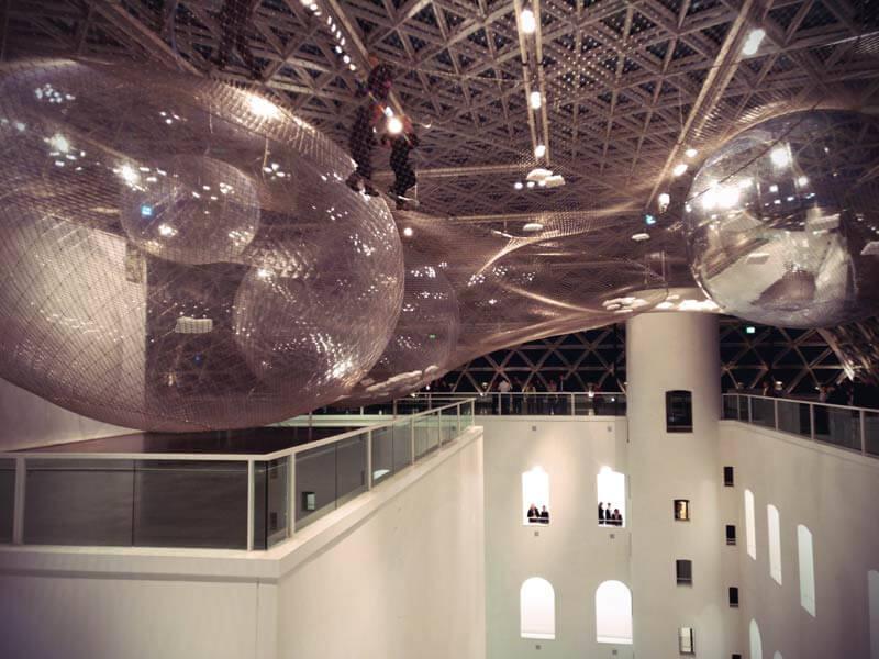 in orbit by Tomas Saraceno im K21 NRW Kunstsammlung