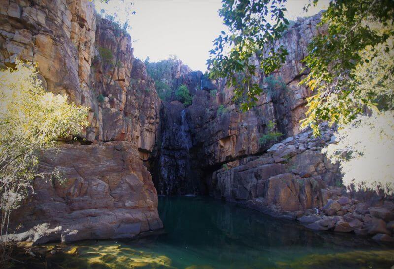 Southern Rockhole Wasserfall Katherine Gorge