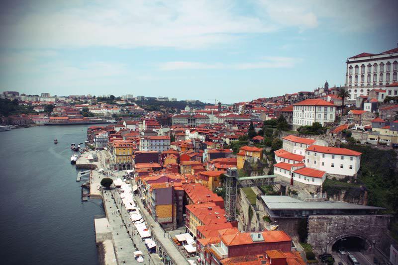 Blick über Ribeira in Porto
