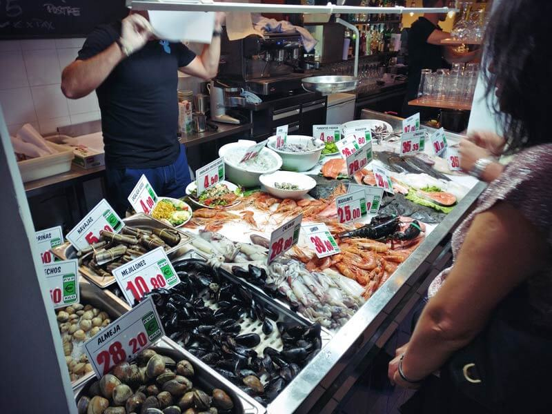 Frischer Fisch im Restaurante la Parada del Mar