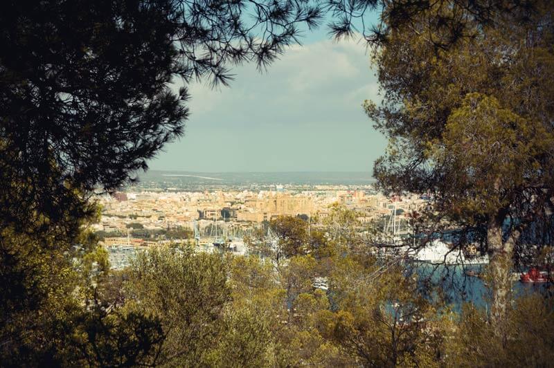 Ausblick auf Palma von der Burg Bellver