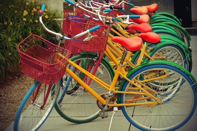 Google Bikes im Google Plex