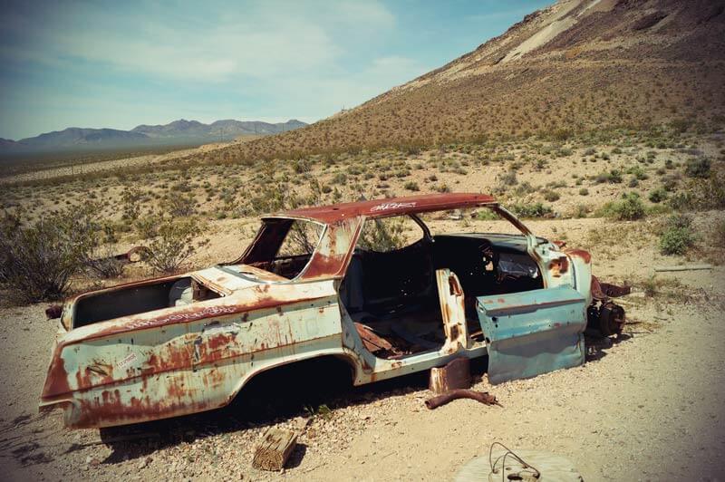 USA verlassenes Auto