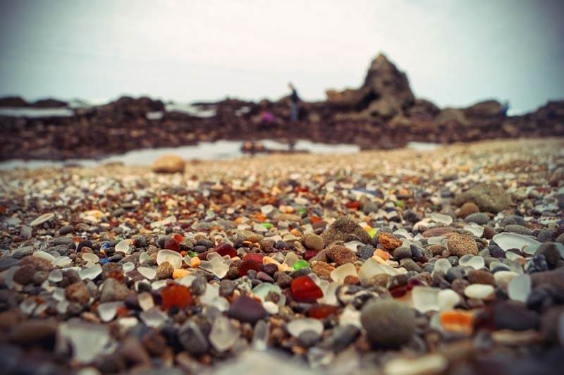 Roadtrip Kalifornien Glass Beach