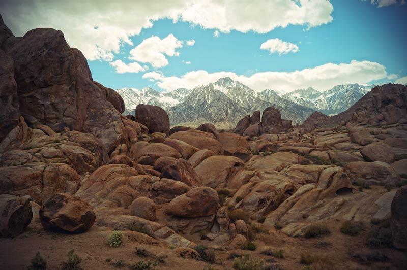 Lone Pine Felsformationen Kalifornien