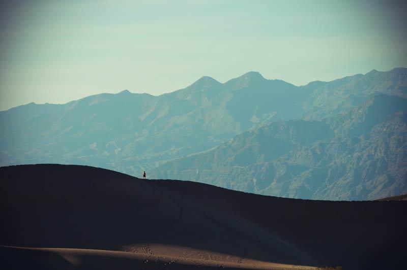 Mesquite Flat Sand Dunes in Kalifornien