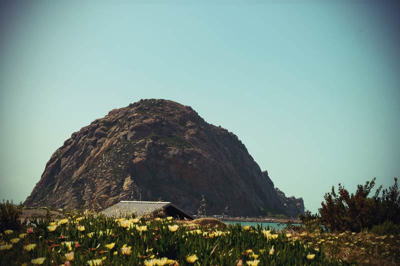 Roadtrip Kalifornien Morro Rock in der Morro Bay