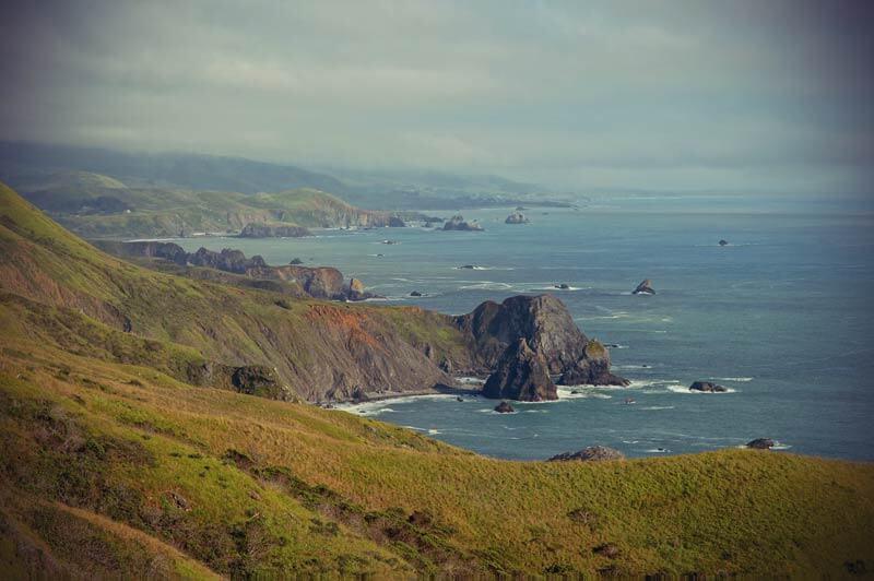 Roadtrip Kalifornien rauhe Küste nördlich von San Francisco