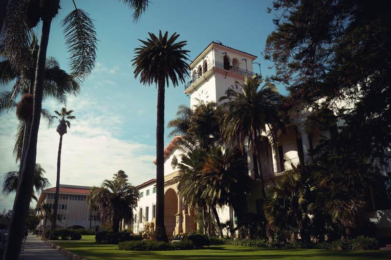 Roadtrip Kalifornien Santa Barbara Clock Tower im Courthouse