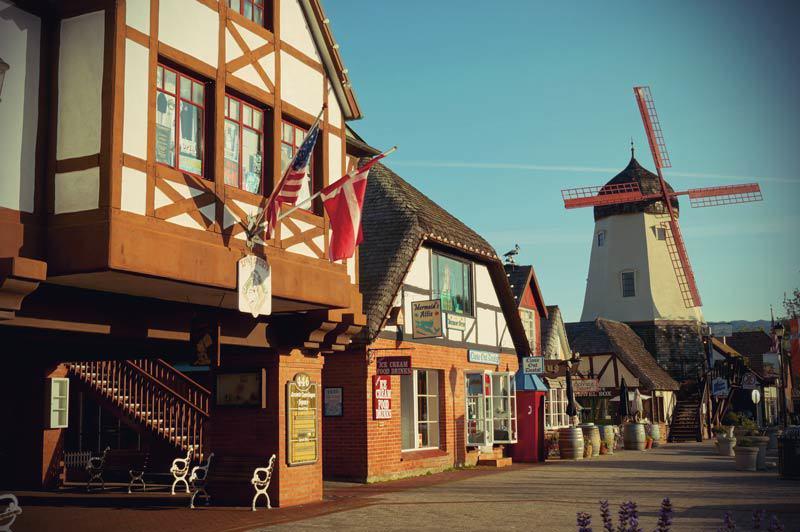 Roadtrip Kalifornien Solvang dänische Windmühle