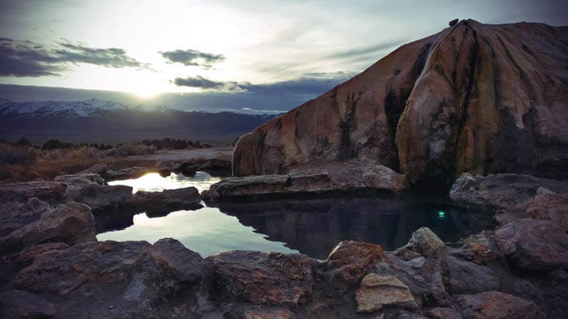 Kalifornien Roadtrip Travertine Hot Springs