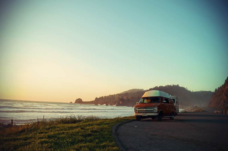 Roadtrip Kalifornien Van an der Küste