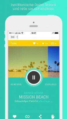 audio guide me Story mission beach