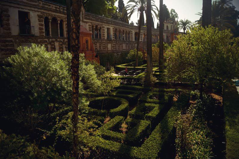 Die Labyrinthartigen Gärten im Real Alcazar
