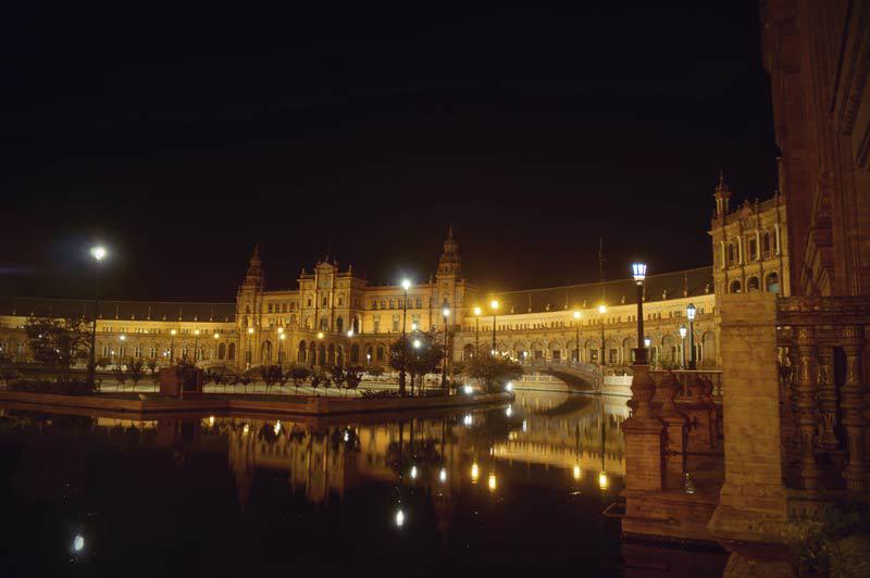Der Placa Espana bei Nacht