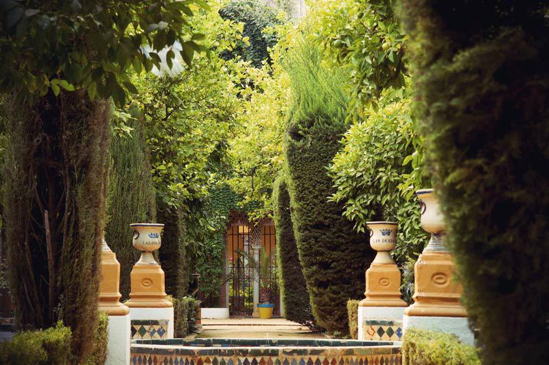 Garten des Palacio de Las Duenas