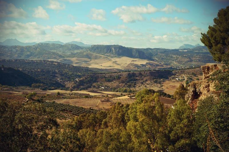 Blick über die Berge Rondas