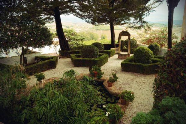 Gärten in der Casa del Rey Moro
