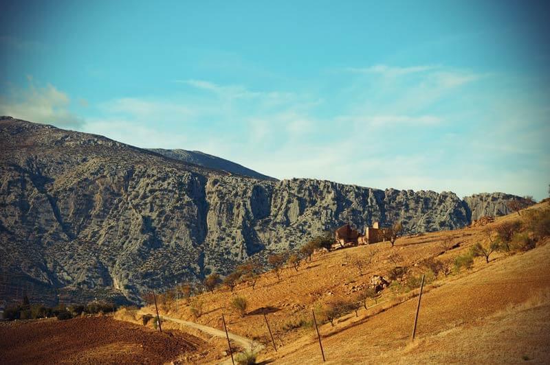 typische andalusische Berglandschaft