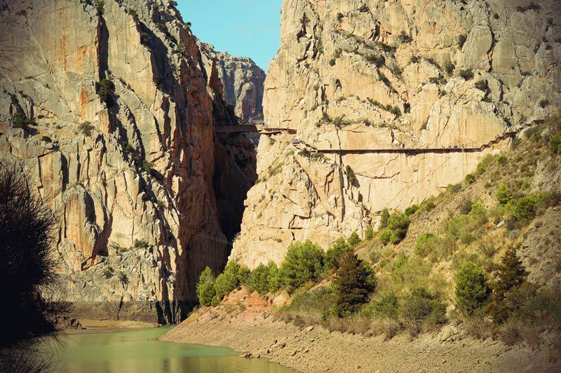 Schlucht durch die der Caminito del Rey führt