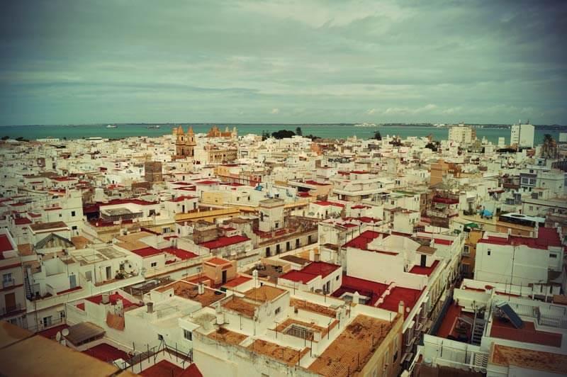 Blick über Cadiz vom Torre Tavira