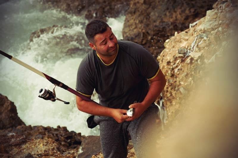 Cadiz Fischer mit Fisch