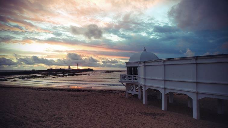 Playa la Caleta Sonnenuntergang