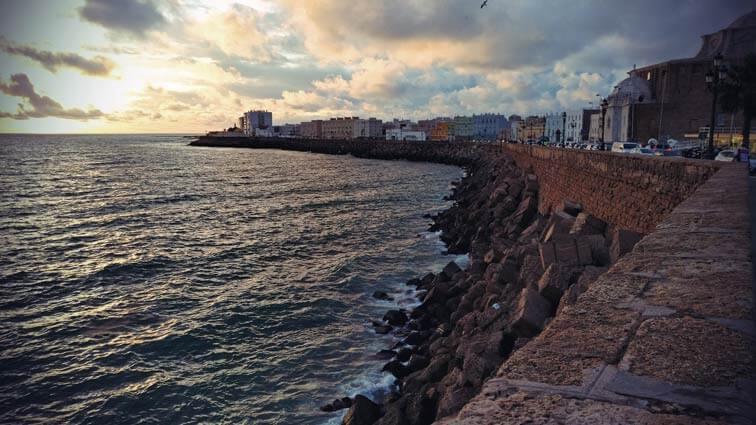 Küste Cádiz.