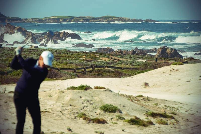 Pacific Coast Highway: Golfer am 17 Mile Drive