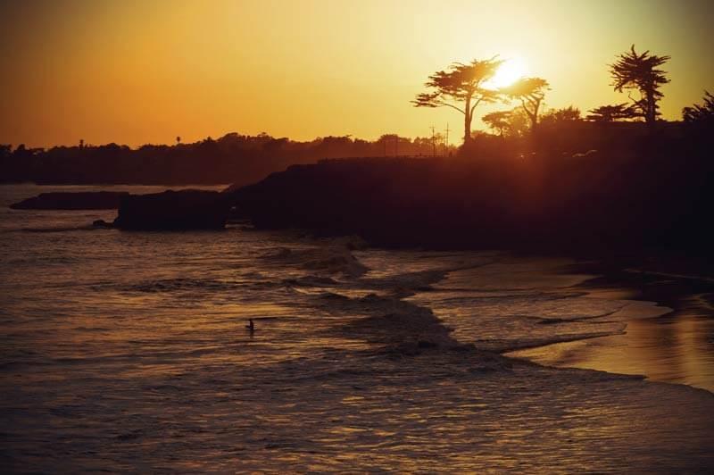Santa Cruz Strand Sonnenuntergang