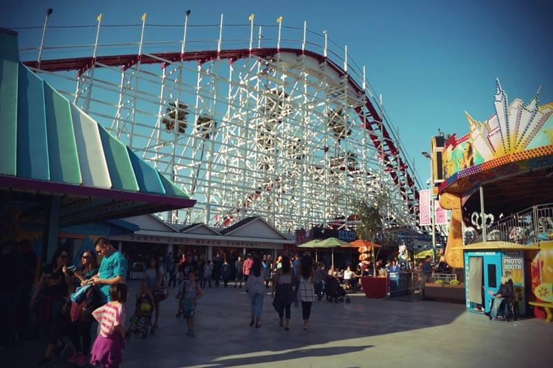 Achterbahn am Santa Cruz Beach Boardwalk