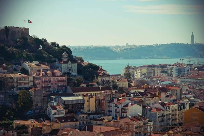 Alfama, die Altstadt Lissabons, von oben