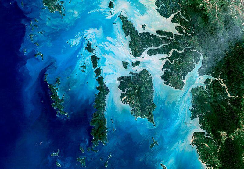 Die Inseln des Mergui Archipels von der Vogelperspektive