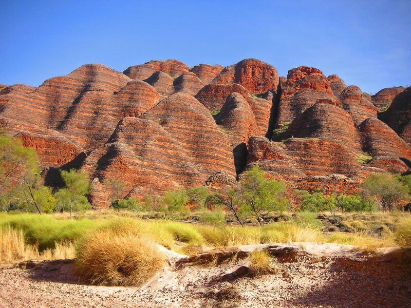 Bungle Bungles Sandsteinformationen in Australien