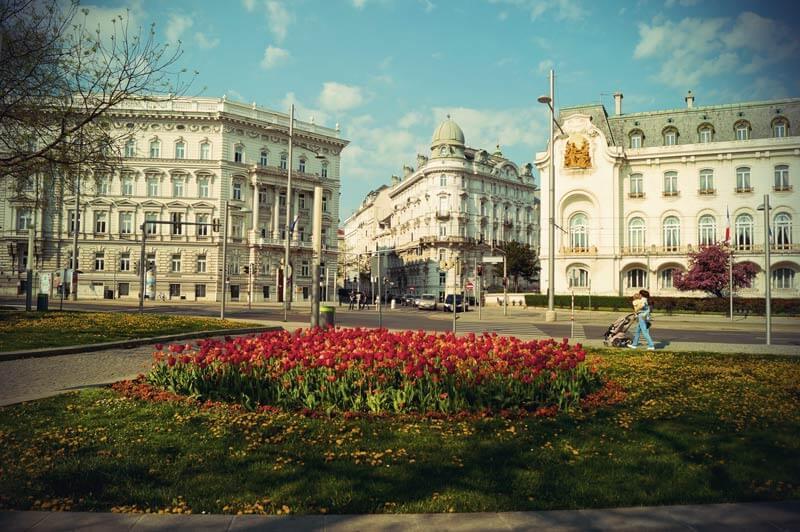 typische Wiener Häuser im Jugendstil