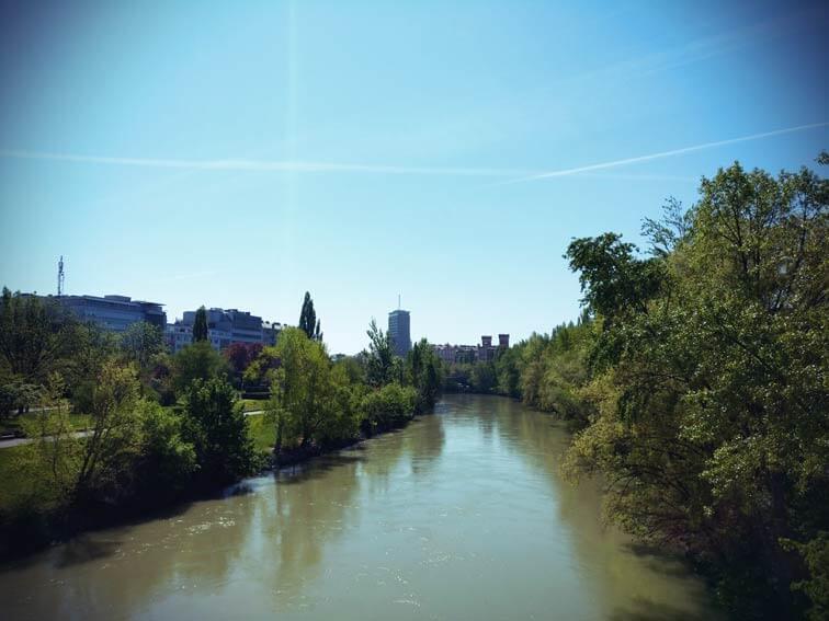 Der grüne Donaukanal mitten in Wien