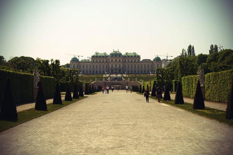 Gartenanlage des Schloss Belvedere in Wien