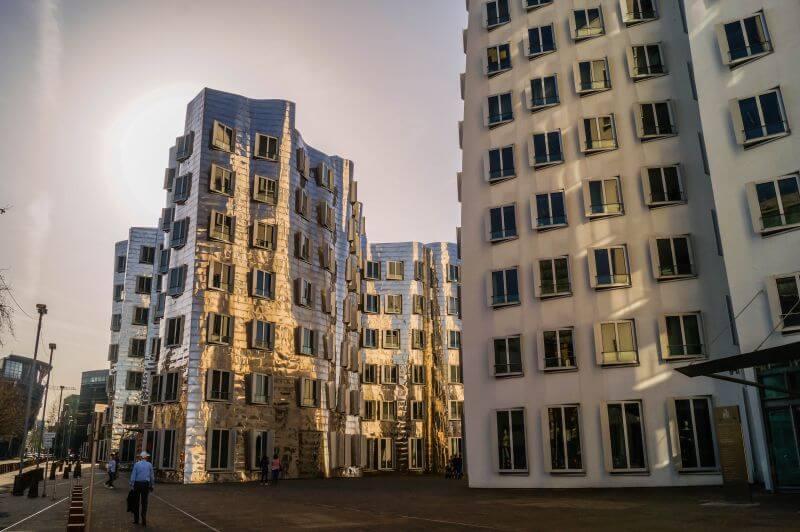 the Gehry buildings (aka Der neue Zollhof)