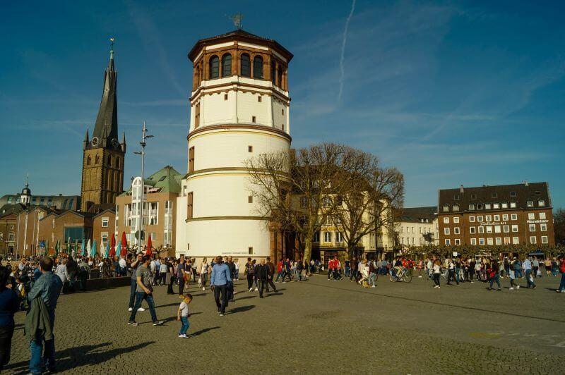 The Maritime Museum at the Burgplatz in dusseldorfs old town