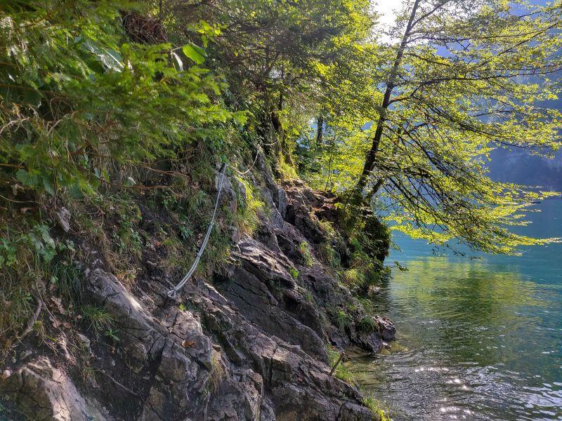 KletterPfad am Ufer des Königssee