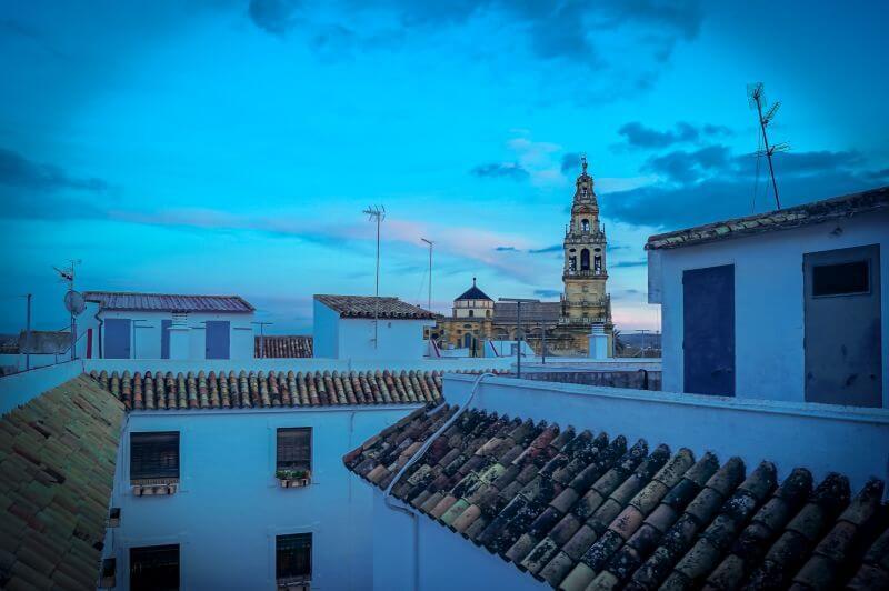 Blick vom Dach des Hospedería Del Atalia