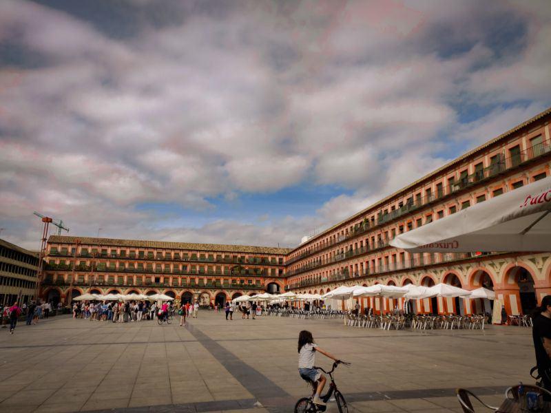 Der plaza de la corredera in Cordoba