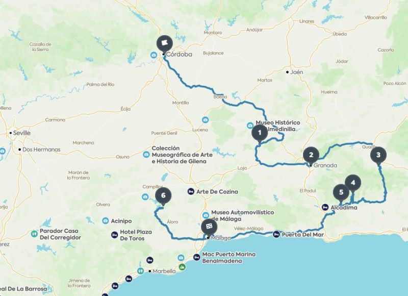Roadtrip Route in Andalusiens Osten