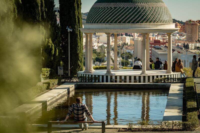Málaga Tipps Pavillion im botanischen Garten