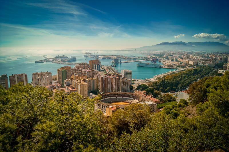 Málaga Tipps Blick über Malaga vom Mirrador de Gibralfaro
