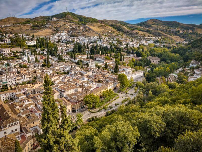 Blick über die Dächer Granadas